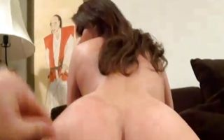 Hot brunette girlfriend Jenna insanely riding on dick