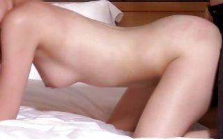 Gorgeous brunette girlfriend Lorraine has deep rough sex