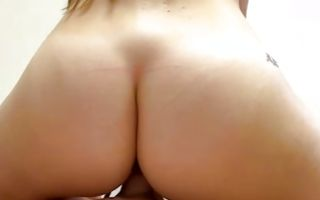 Watch my GF Megan with round butt has painful deep sex
