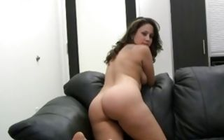 Cute brunette Ex-GF Paula sucking rod before painful sex