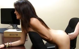 Fabulous brunette Ex-GF Autumn has painful deep anal sex
