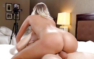 Watch my GF Athena with round booty riding on ramrod