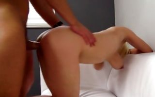 Naughty blonde ex-girlfriend Marie roughly fucked in cunt
