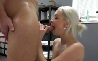 Hot light-haired girlfriend Denisa has sensual deep sex