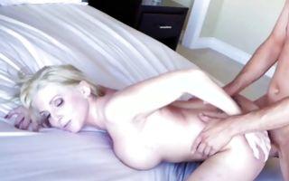 Tremendous blonde GF Christie Stevens has painful sex