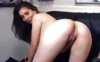 Terrific brunette Ex-GF posing and fingering juicy cunt