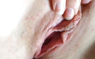 Hot babe with shaved pussy hole gets her holes slammed roughly