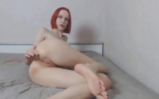 Ginger babe gets ass slammed and fingered
