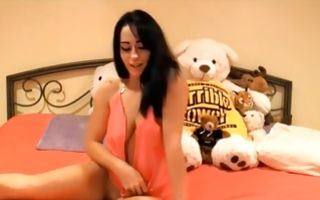 Horny young brunette whore shows her big tits in homemade solo porn