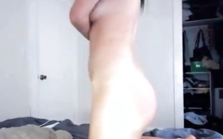 Adorable young brunette punishes herself in homemade solo porn video