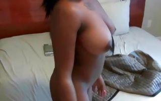 Awesome Ebony Ex-GF Camille Devine has hard deep sex