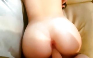 Watch my seductive girlfriend sucking and getting laid doggystyle