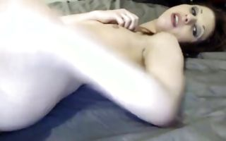 Brunette gf with sluttish eyes shows beautiful beaver