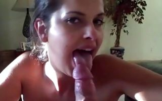 Pov cock sucking by busty gf staying on knees