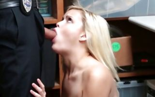 Depraved cop insanely fucking stunning blonde slut