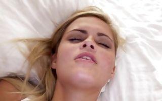 Hot blonde ex-girlfriend with big butt has deep sex