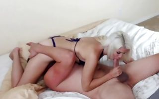 Hot light-haired ex-girlfriend has deep sex with dude
