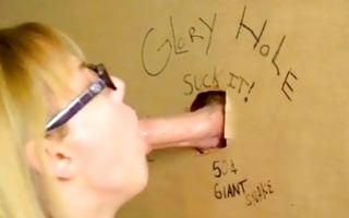 Gorgeous light-haired Ex-GF sucking heavy ramrod